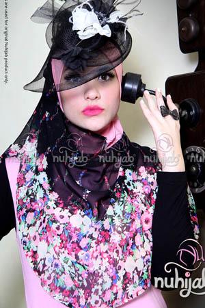 Nuhijab BIS Flower - Black Pink