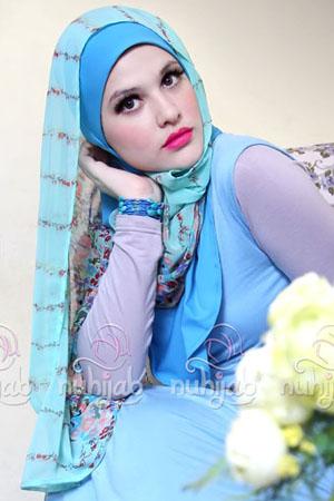 Nuhijab BIS Flower - Blue
